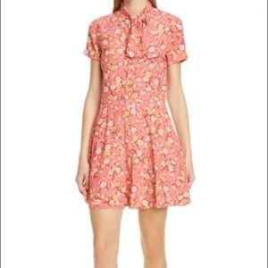 Polo Ralph Lauren Blush Floral Tie Neck Dress